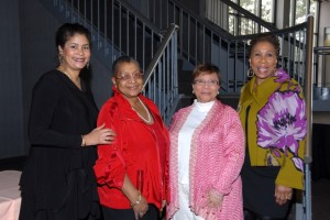 Past Woman of Vision honorees Dr. Linda D. Bradley, Cleveland Clinic; Call & Post Editor/Associate Publisher Connie Harper; Urban League of Greater Cleveland President Marsha A. Mockabee; and Former Chief Executive Officer of Girl Scouts of Northeast Ohio Daisy L. Alford-Smith Ph.D.